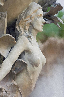 Sculpture Of Angelic Woman Art Print by Christopher Purcell