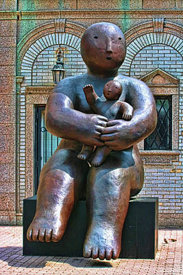 Photograph - Sculpture - One Holding Small One by Allen Beatty