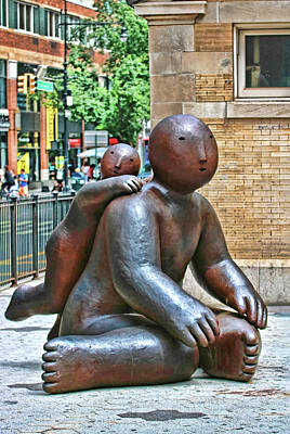 Photograph - Sculpture - One Leaning On Another by Allen Beatty