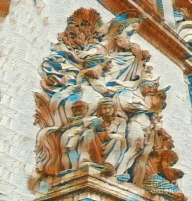 Digital Art - Sculpture - Paris France - Arc De Triomphe by Judy Palkimas