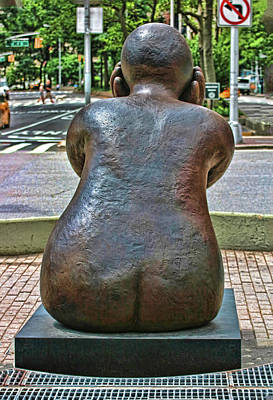 Photograph - Sculpture - Sitter With Head In Hands # 3 by Allen Beatty