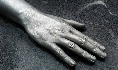 Photograph - Sculptured Hand In New Orleans by Michael Hoard