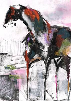 Painting - Sculputred Horse 2 by Frances Marino