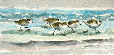 Scurrying Along The Shoreline 2  1-6-16 Art Print