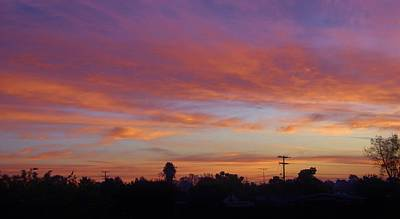 Photograph - Sd Sunset 2 by Phyllis Spoor