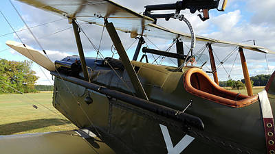 Photograph - Se5a Cockpit by Liza Eckardt