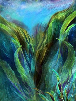 Mixed Media - Sea Abstract 2 by Carol Cavalaris