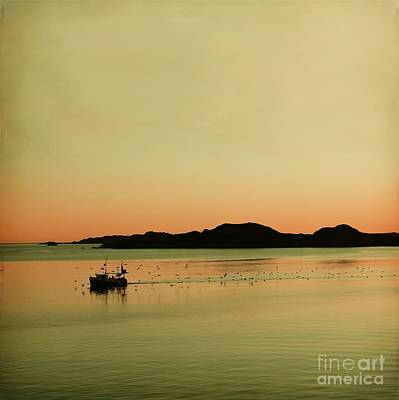 Sea After Sunset Print by Sonya Kanelstrand