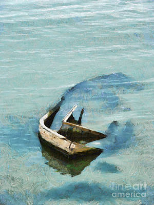 Painting - Sea And Boat by Dimitar Hristov