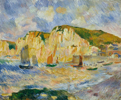 Painting - Sea And Cliffs by Auguste Renoir