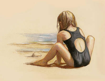 Drawing - Sea And Sand by Joyce Geleynse