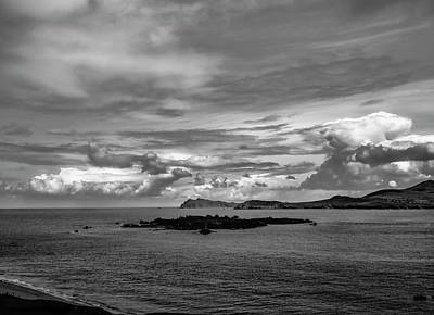 Photograph - Sea And Sky Bw. by Leif Sohlman