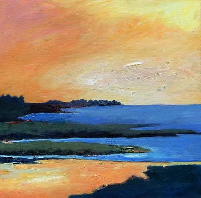 Print featuring the painting Sea And Sky by Gary Coleman