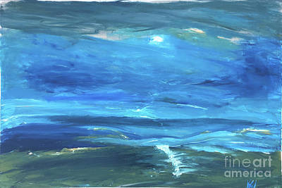Painting - Sea And Sky by Karen Nicholson