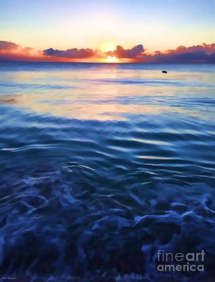 Sea And Sky - Mullins Bay Art Print