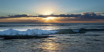 Photograph - Sea And Surf Panorama by Debra and Dave Vanderlaan