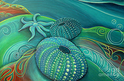 Painting - Sea Anemone Kina By Reina Cottier by Reina Cottier