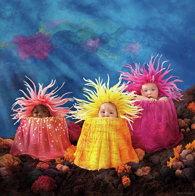 Under The Ocean Photograph - Sea Anemones  by Anne Geddes
