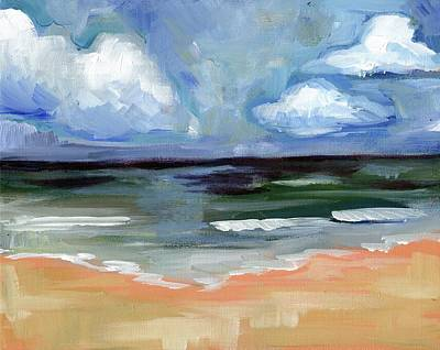 Abstract Realism Painting - Sea by Anne Seay