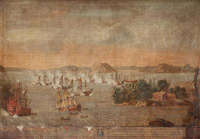 Sea Battle At Hogland Art Print by MotionAge Designs
