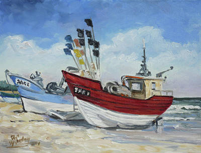 Painting - Sea Beach 10 - Baltic by Irek Szelag