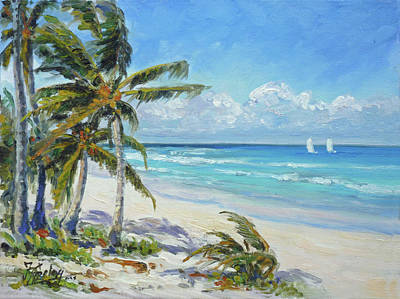 Painting - Sea Beach 12 - Punta Cana by Irek Szelag