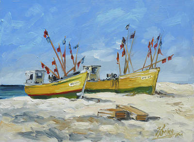 Painting - Sea Beach 2 - Baltic by Irek Szelag
