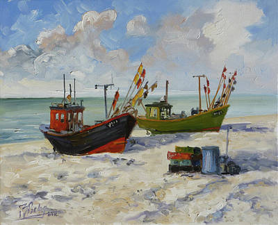 Painting - Sea Beach 3 - Baltic by Irek Szelag