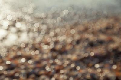 Photograph - Sea, Beach And Shells Abstract Blurred by Yoel Koskas