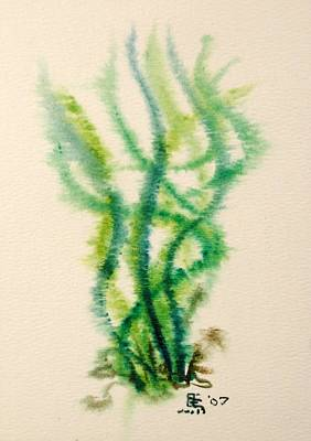 Green Painting - Sea Bed One by Dave Martsolf