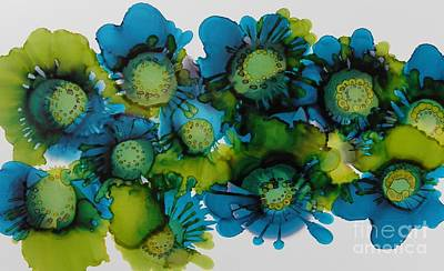 Ink Wall Art - Painting - Sea Blooms by Beth Kluth