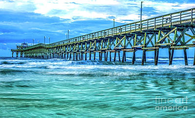 Sea Blue Cherry Grove Pier Art Print