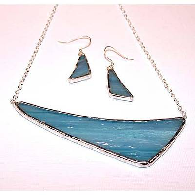 Nugget Necklace Jewelry - Sea Blue From The Athena Collection by Kelly DuPrat