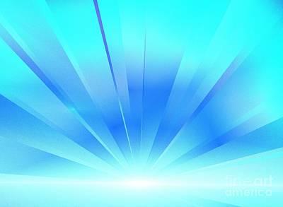 Digital Art - Sea Blue Lights by Kim Sy Ok