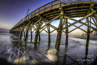 Photograph - Sea Cabin Pier Sunrise by David Smith