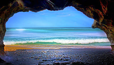 Photograph - Sea Cave by Mark Andrew Thomas