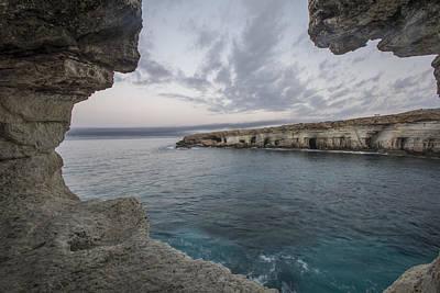Sea Caves,cape Greko. Mediterranean Sea,cyprus Art Print by Julian Popov