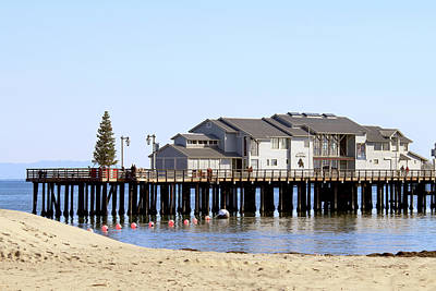 Christmas Blocks Photograph - Sea Center - Santa Barbara by Art Block Collections