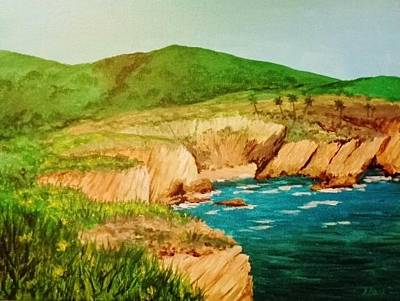 Painting - Sea Cliff, Ca by Katherine Young-Beck