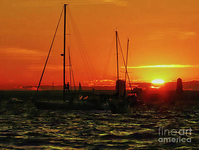 Seascape Photograph - Sea Cliff Sunset by Jeff Breiman
