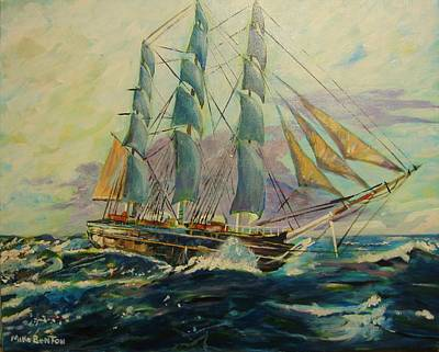 Painting - Sea Clipper by Mike Benton