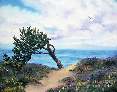 Painting - Sea Coast At Half Moon Bay by Laura Iverson