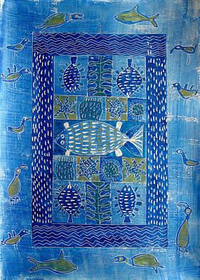 Sea Creatures II Art Print by Aliza Souleyeva-Alexander