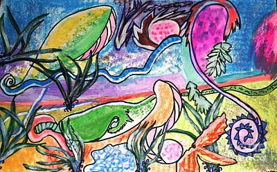 Painting - Sea Creatures by Victoria Hasenauer