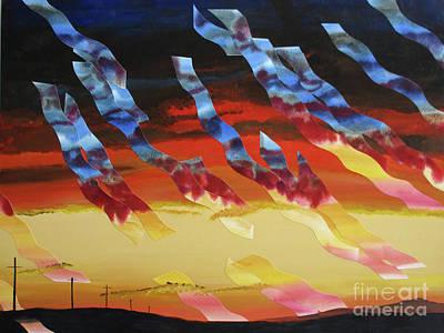 Wall Art - Painting - Sea Crest Sunset Vii by Jeni Bate