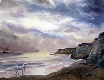 Grey Clouds Painting - Sea Dancer by Laura Iverson