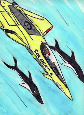 Orca Mixed Media - Sea Dart 06 by Ronald Woods