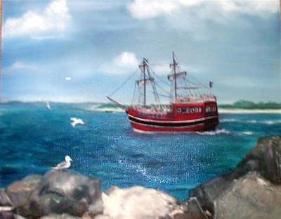 Pirate Ship Painting - Sea Dragon by Dixie Hester