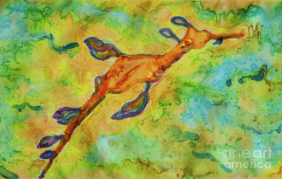 Tapestry - Textile - Sea Dragon by Jacqueline Phillips-Weatherly