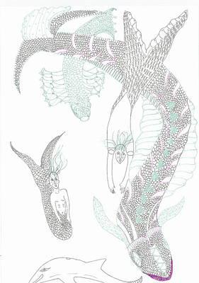 Sea Dragons And Mermaids Art Print